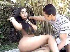 Shemale beauty gets intense anal massage