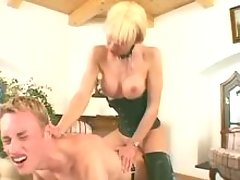Lustful shemale cums on males cock