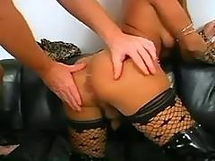 Lusty shemale and man jizz by turns