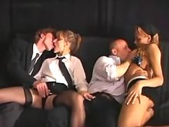 Shemale sucks and sucked in orgy