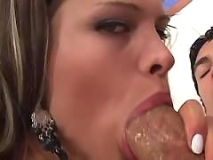 Shemale in corset gets cum on ass