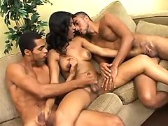 TS n two guys suck cocks each other