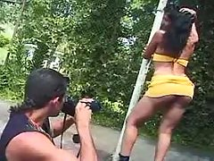 Shemale sucking and fucking outdoor