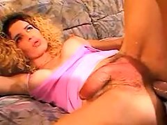 Delicious slim shemale takes in ass