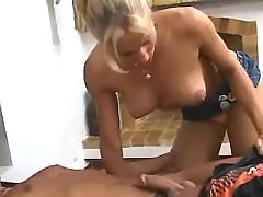 Dude and shemale sucking each other