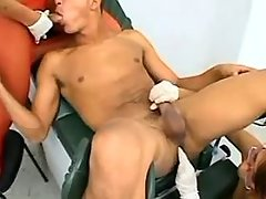 Tranny and girl w strapon share guy