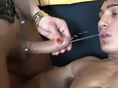 Tranny gives assbanging to cute man