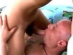 Hot shemale and man suck each other