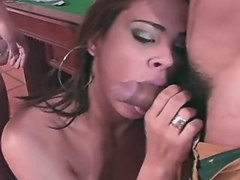 Exotic shemale dance on hard dick