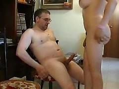 Man sucks and licks mature shemale