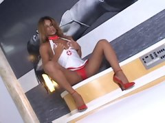 Hot new EXCLUSIVE and straight from Brazil is Tgirl sensation Kamila. She taunts us with her sexy body as she teases and caresses herself in one of ou