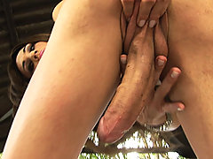 Petite Tall Tranny With Big Strong Cock